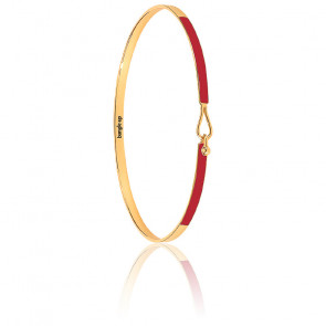 Bracelet Lily rouge velours