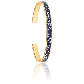 Bracelet Cosmos bleu nuit plaqué or