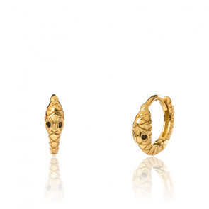 Boucles d'oreilles Mini Black Mamba Gold