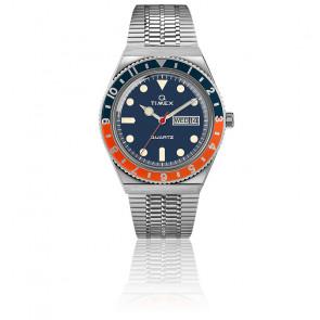 Montre Q Timex Reissue Bleu/Orange TW2U61100