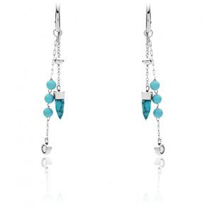 Boucles d'oreilles pendantes magnésite, JF03520040