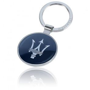 Porte-clés acier gris et bleu KMU4160128