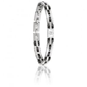 Bracelet en acier et céramique noire JM220ASR02