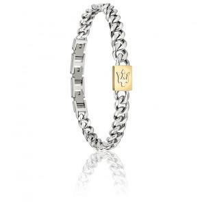 Bracelet en acier et PVD doré JM320AST06