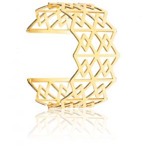 Manchette géométrique Léonie en or