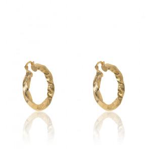 Boucles d'oreilles créoles Isis dorées