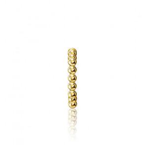 Manchette d'oreille unique Perles Plaqué Or, EC0017-413-39