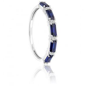 Bague Or blanc Saphirs & Diamants