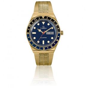 Montre Q Timex Reissue Doré/Bleu TW2U61400