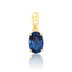 Pendentif Or jaune & Topaze London Blue