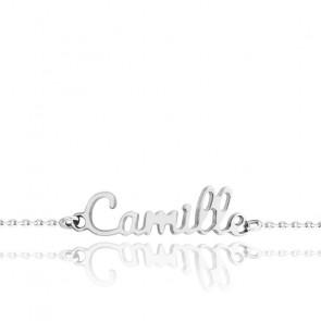 Bracelet Prénom Or Blanc 9K