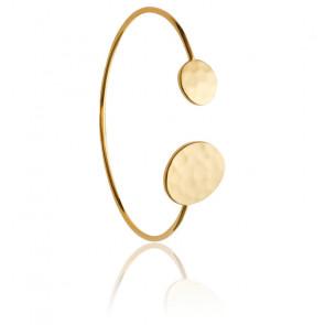 Bracelet Jonc Duo Deux Cercles Plaqué Or Jaune