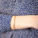 Bracelet Jonc Fil Rond Massif 58 mm Or Jaune 18K