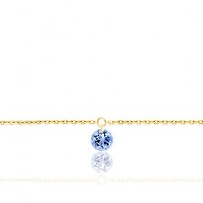 Bracelet Saphir percé 0,30 ct & Or Jaune 18K