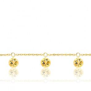 Bracelet 3 Saphirs Jaunes Percés & Or jaune 18K