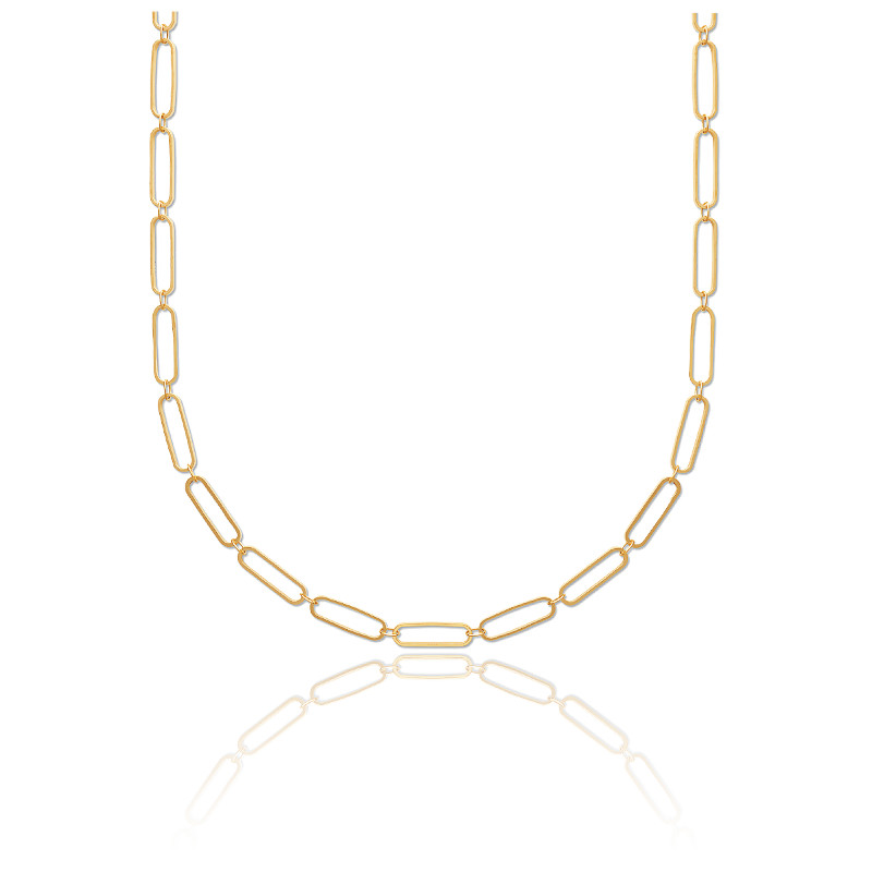 Collier plaqué or 3 microns