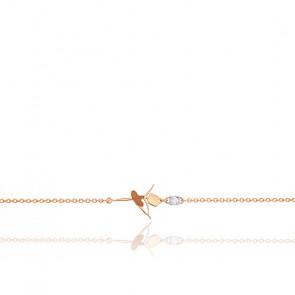 Bracelet Ballerine Or Rose 18K & Diamant