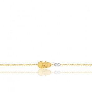Bracelet Chaussure Or Jaune 18K & Diamant