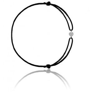 Bracelet Cordon Diamants 0,09 ct & Or Blanc 18K