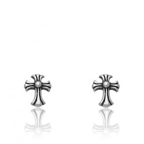 Boucles d'oreilles Gothik acier et croix Celte HBO630