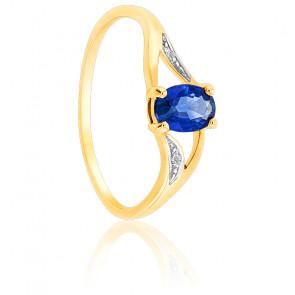 Bague Saphir & Diamants Or 18K