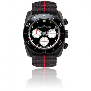 WRV Chronographe Tachymètre Black « Panda Inversé » / WRV 3103