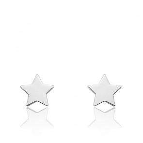 Boucles d'oreilles Etoiles Or Blanc