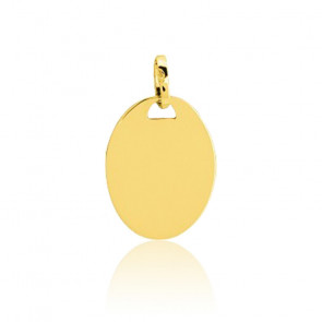 Médaille Ovale A Graver Or jaune