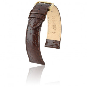 Bracelet de montre Crocograin Marron 12302810