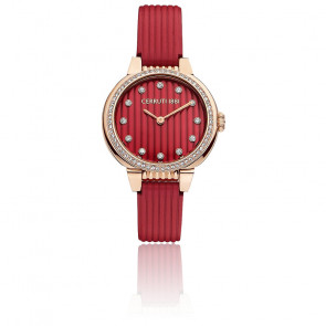 Montre Carinzia rouge or rose CRM28205