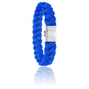 Bracelet 696 Cordon Marin Bleu Azur & Acier