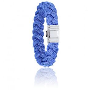 Bracelet 696 Cordon Marin Bleu Mer & Acier