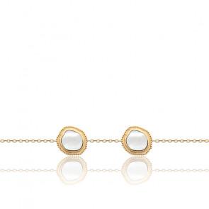 Bracelet Nina Plaqué Or jaune 18K & Nacre