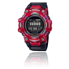 Montre G-Squad noire et rouge GBD-100SM-4A1ER