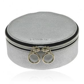 Boîte à bijoux ronde grise