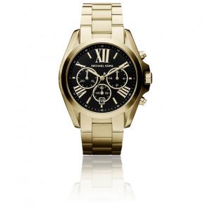 Montre Bradshaw dorée surdimensionnée MK5739