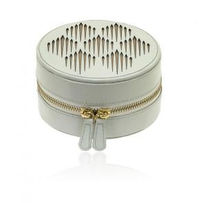Pochette à bijoux Ronde Gatsby blanc
