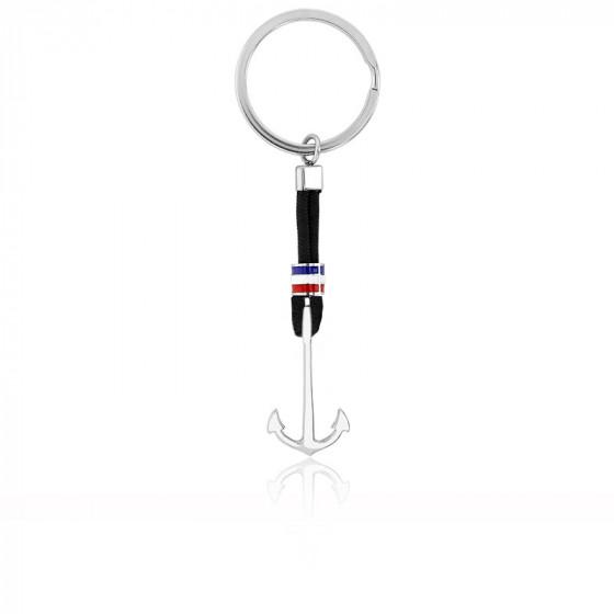 porte clés argenté ancre 21x14 mm