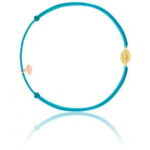 Bracelet cordon madone plaqué or