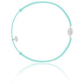 Bracelet cordon madone argent