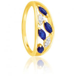 Bague Saphirs & Diamants Or 18K