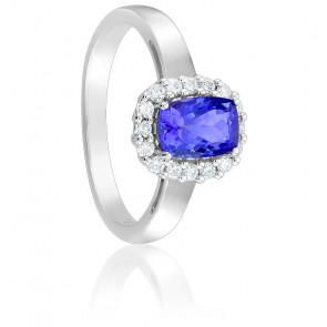 Bague Tanzanite & Diamants Or blanc 18K