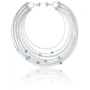 Bracelet chaines multiples perle argent