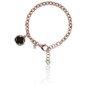 Bracelet trèfle à quatre feuilles onyx noir