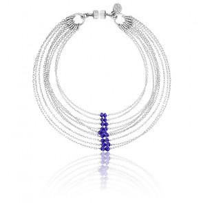 Bracelet chaines multiples sandra argent