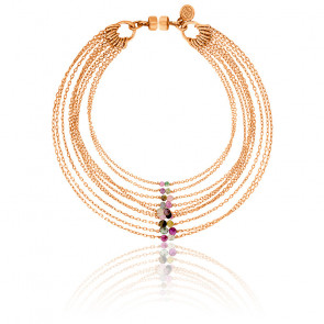 Bracelet chaines multiples sandra plaqué or rose