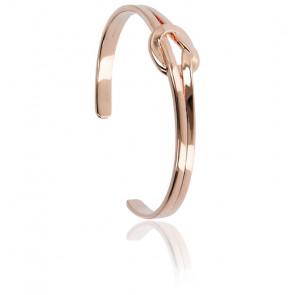 Bracelet noeud or rose