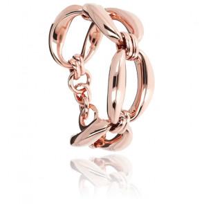 Bracelet chaine géométrique avec maxi fermoir
