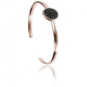 Bracelet pavé avec spinelles noirs