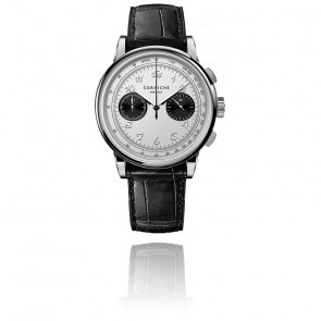Montre Heritage Visage Chronograph Cadran blanc
